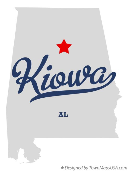 Map of Kiowa Alabama AL