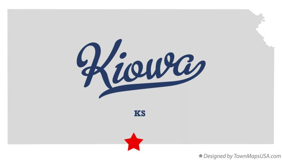Map of Kiowa Kansas KS