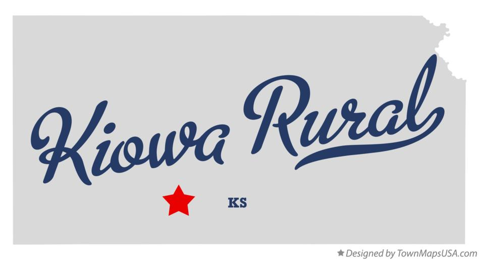 Map of Kiowa Rural Kansas KS