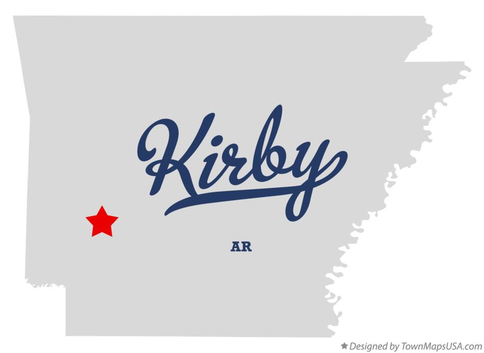 Map of Kirby Arkansas AR