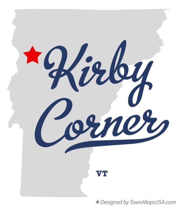 Map of Kirby Corner Vermont VT