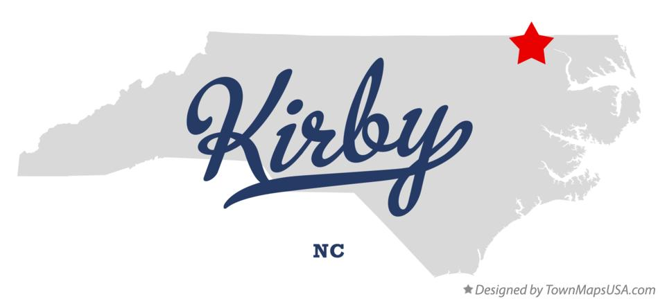 Map of Kirby North Carolina NC
