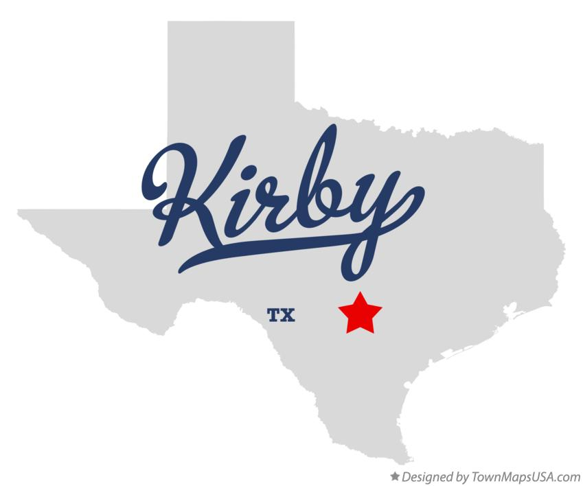 Map of Kirby Texas TX