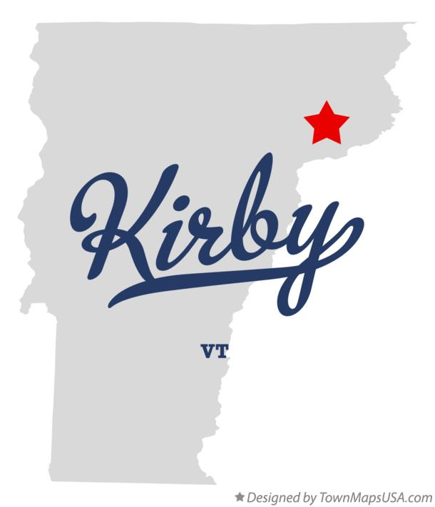 Map of Kirby Vermont VT