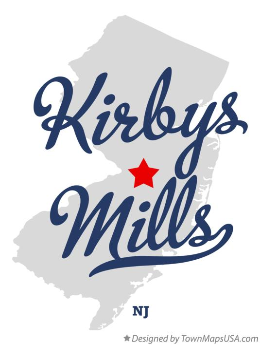 Map of Kirbys Mills New Jersey NJ