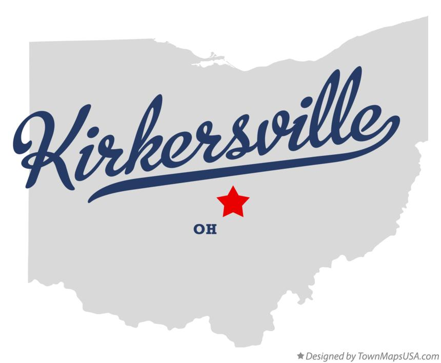Map of Kirkersville Ohio OH