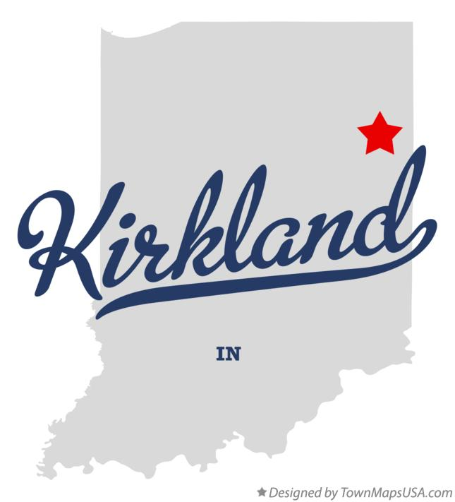 Map of Kirkland Indiana IN