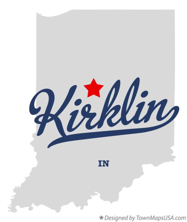 Map of Kirklin Indiana IN