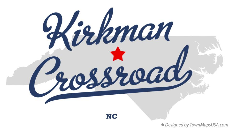Map of Kirkman Crossroad North Carolina NC