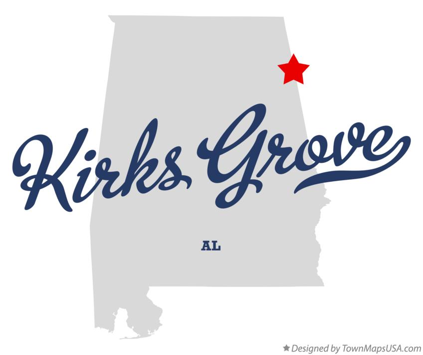 Map of Kirks Grove Alabama AL