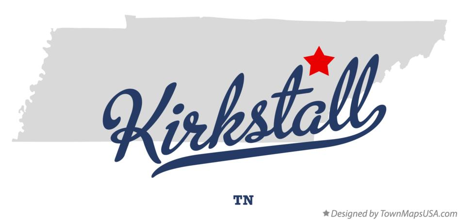Map of Kirkstall Tennessee TN