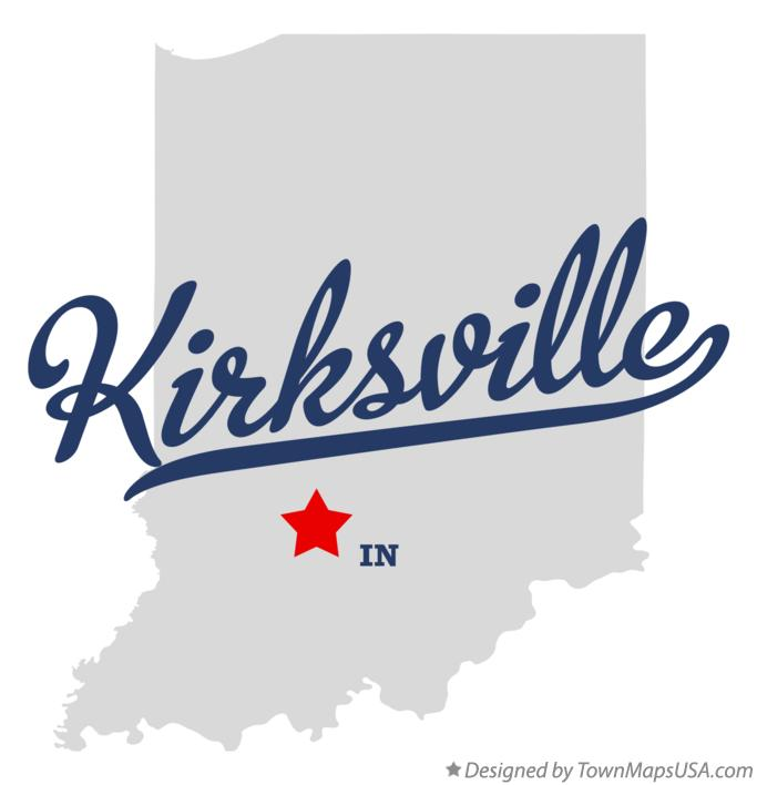 Map of Kirksville Indiana IN