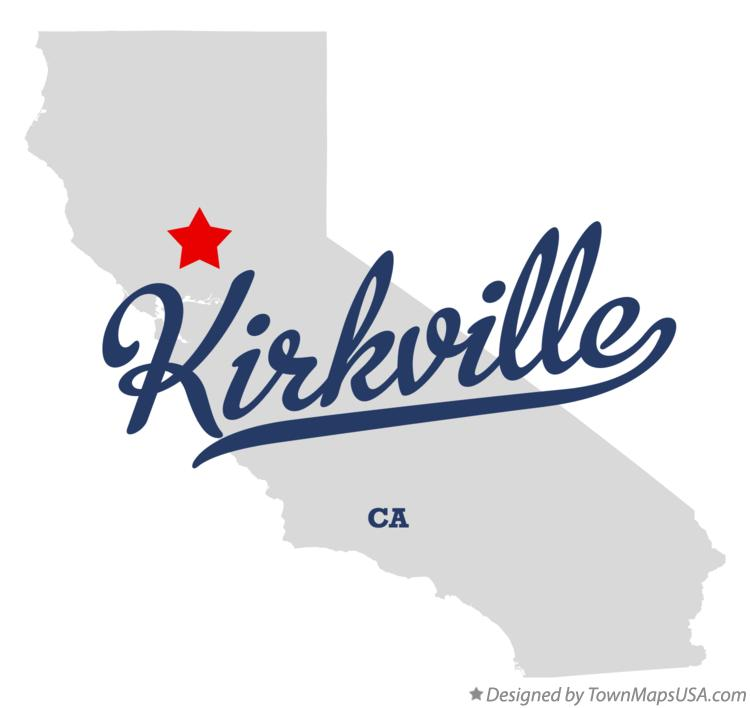 Map of Kirkville California CA