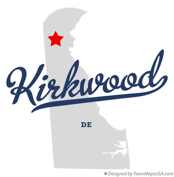 Map of Kirkwood Delaware DE