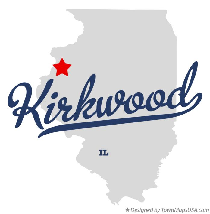 Map of Kirkwood Illinois IL