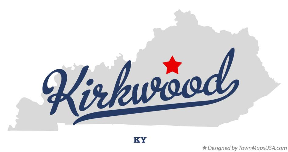 Map of Kirkwood Kentucky KY