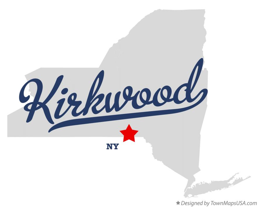 Map of Kirkwood New York NY