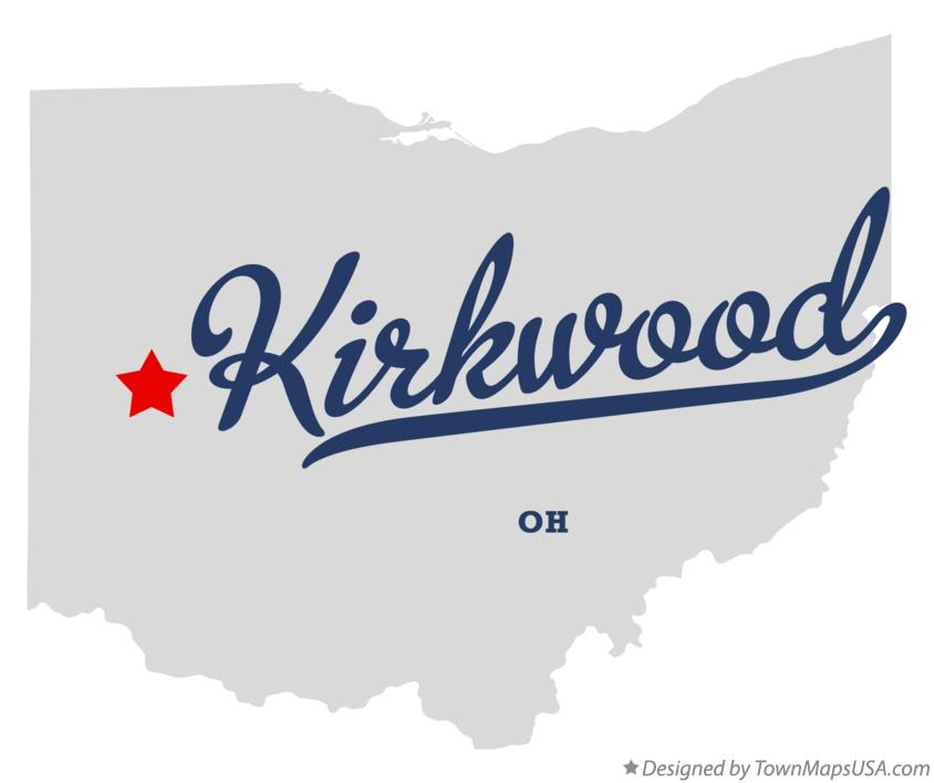 Map of Kirkwood Ohio OH