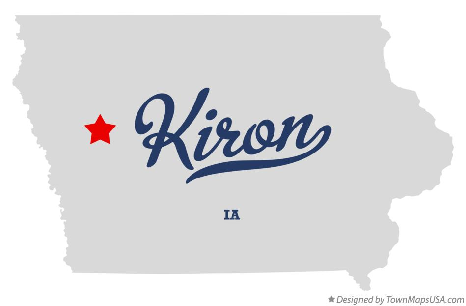 Map of Kiron Iowa IA