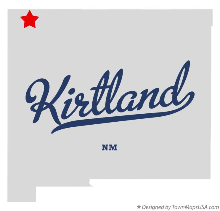 Map of Kirtland New Mexico NM