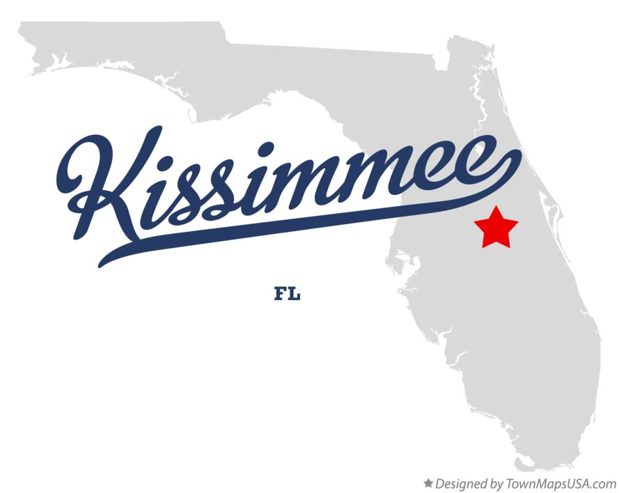 Map of Kissimmee Florida FL