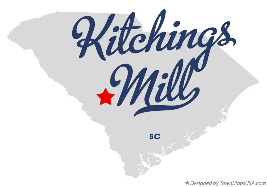 Map of Kitchings Mill South Carolina SC
