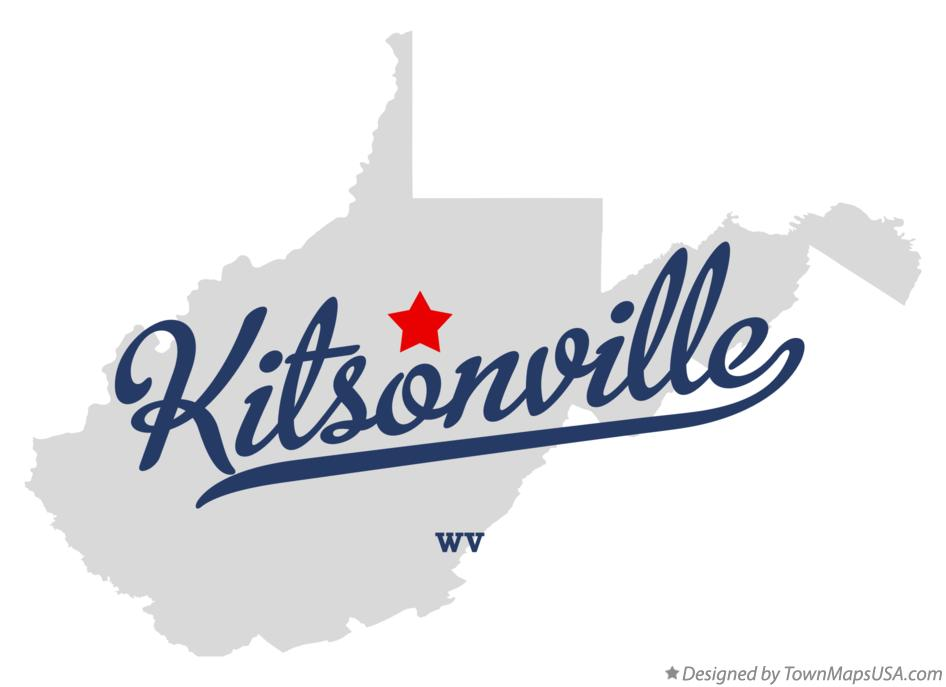 Map of Kitsonville West Virginia WV