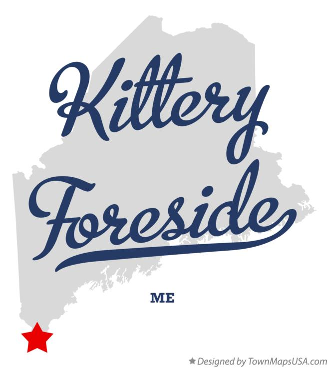 Map of Kittery Foreside Maine ME