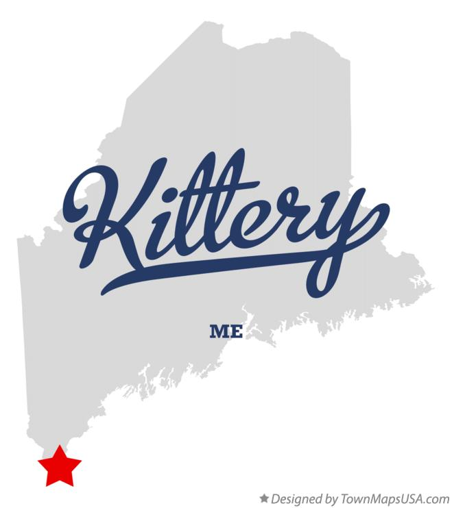 Map of Kittery Maine ME