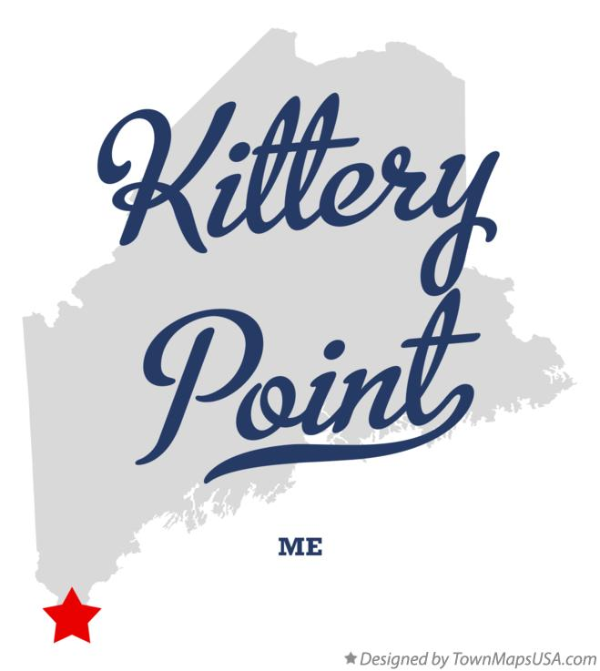 Map of Kittery Point Maine ME