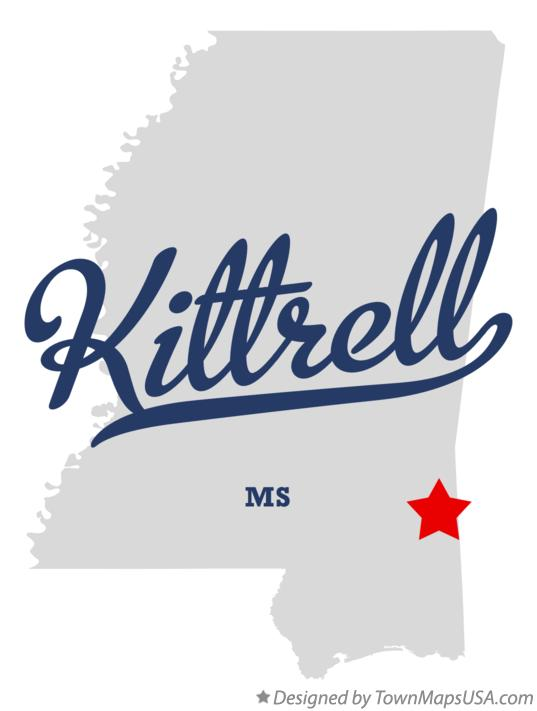 Map of Kittrell Mississippi MS