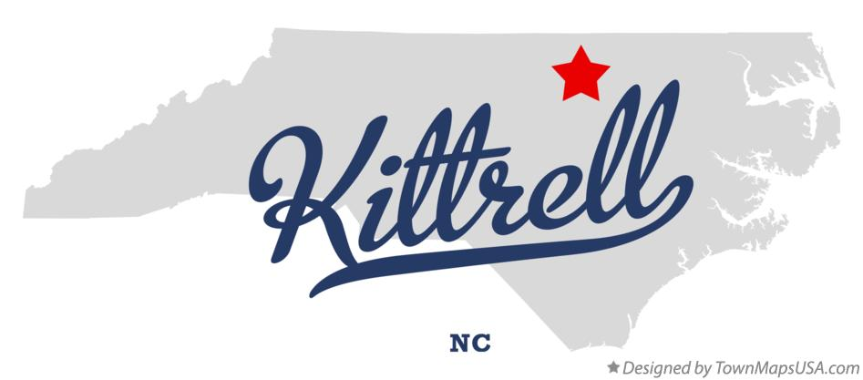 Map of Kittrell North Carolina NC