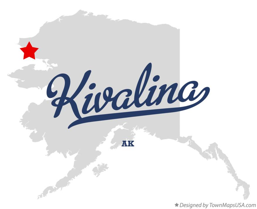 Map of Kivalina Alaska AK