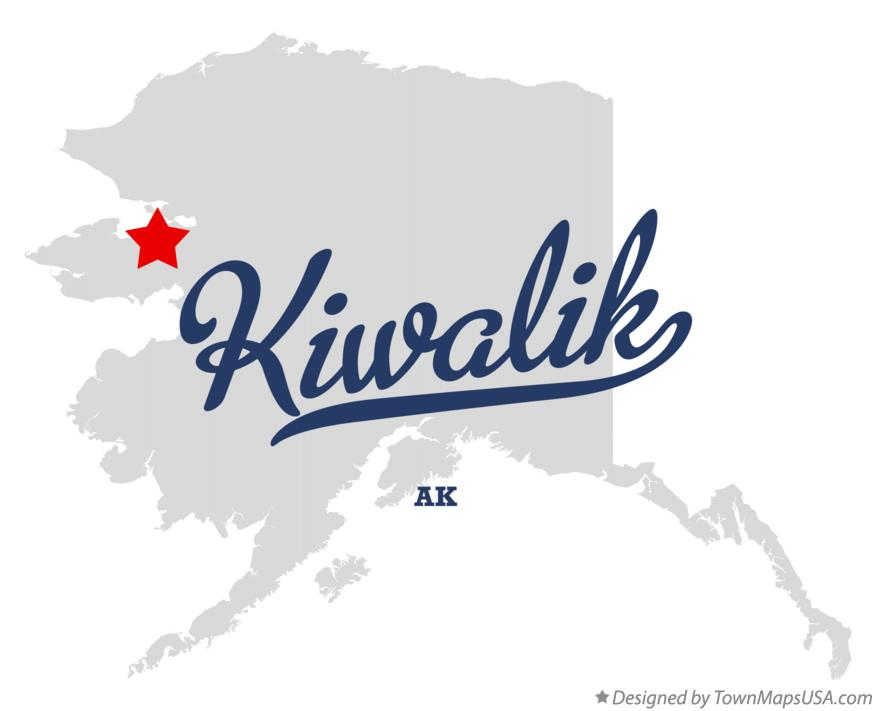 Map of Kiwalik Alaska AK