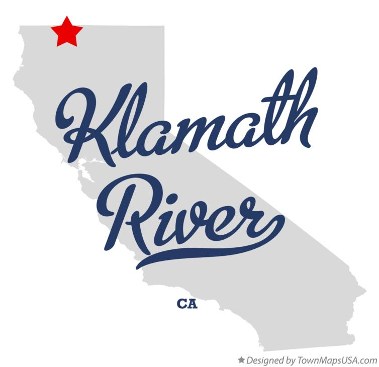 Map of Klamath River California CA