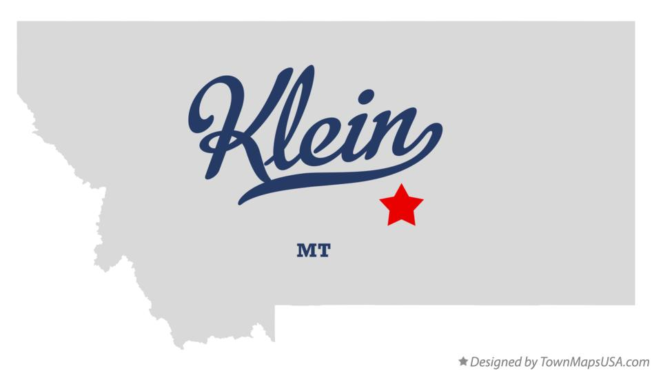 Map of Klein Montana MT