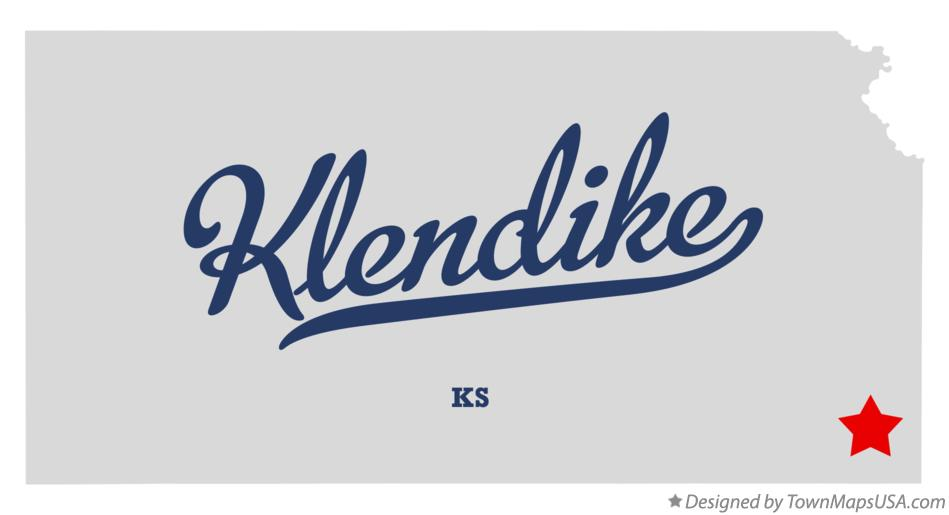 Map of Klendike Kansas KS