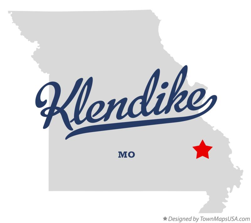 Map of Klendike Missouri MO