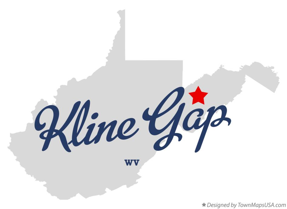Map of Kline Gap West Virginia WV