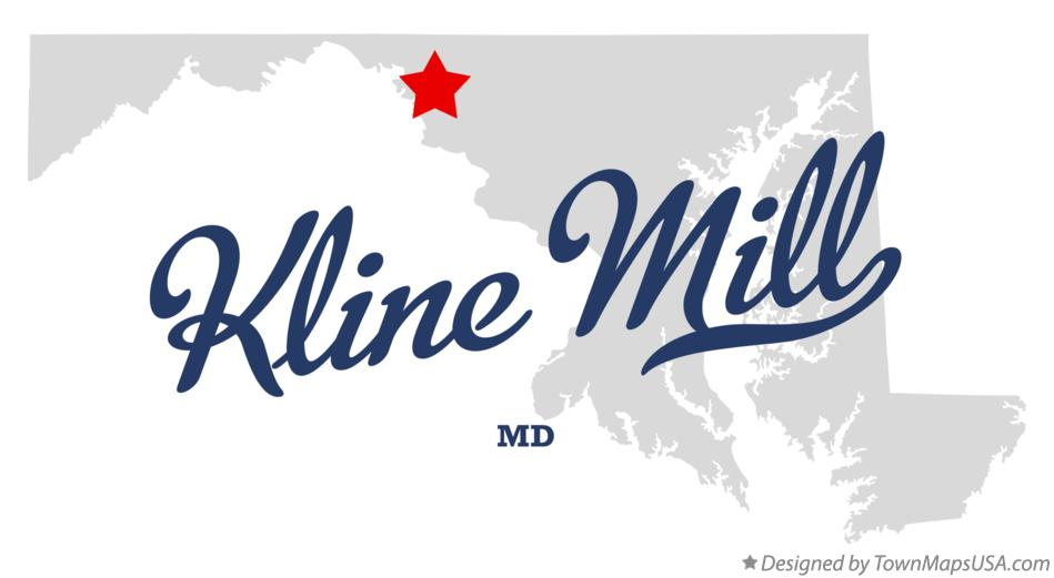 Map of Kline Mill Maryland MD