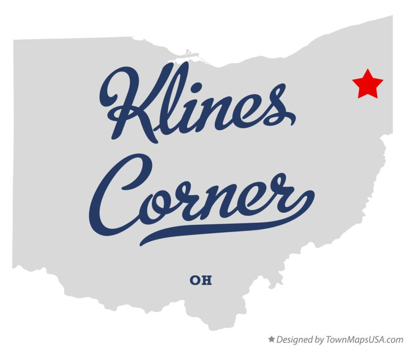 Map of Klines Corner Ohio OH