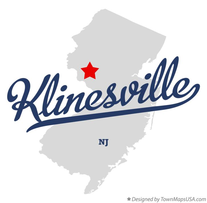 Map of Klinesville New Jersey NJ