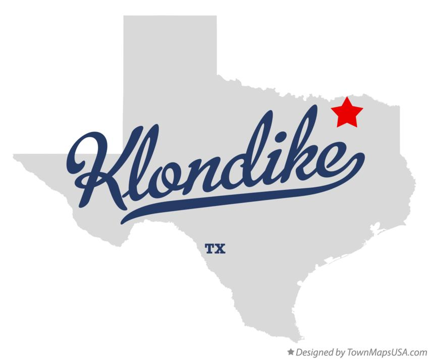 Map of Klondike Texas TX