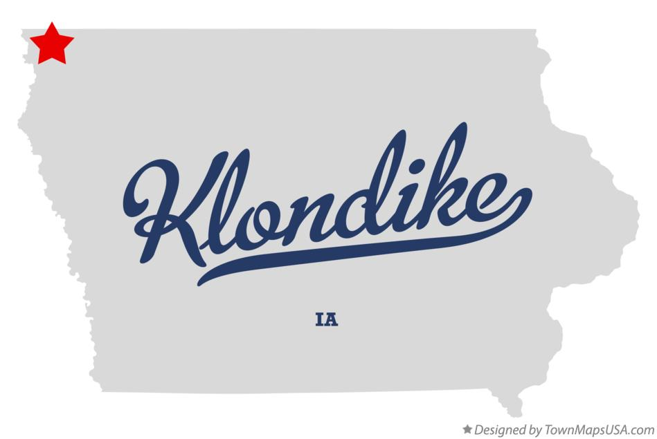Map of Klondike Iowa IA