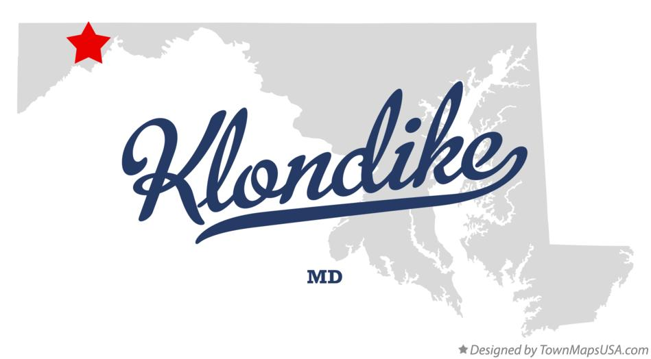 Map of Klondike Maryland MD