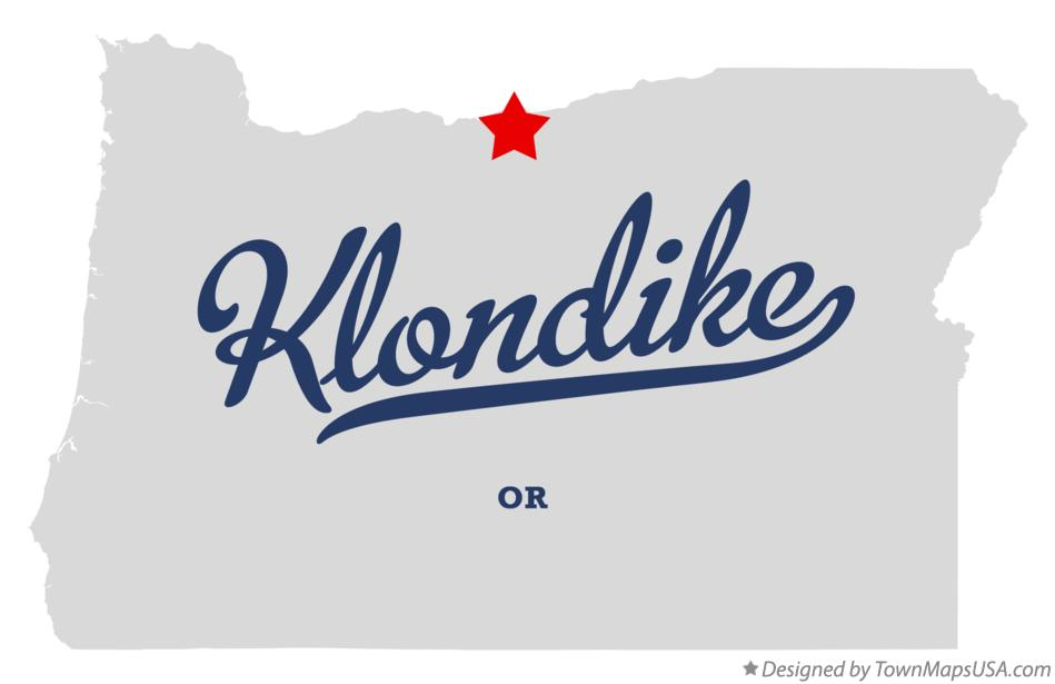 Map of Klondike Oregon OR