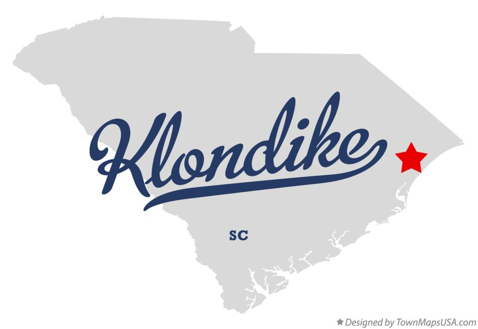 Map of Klondike South Carolina SC
