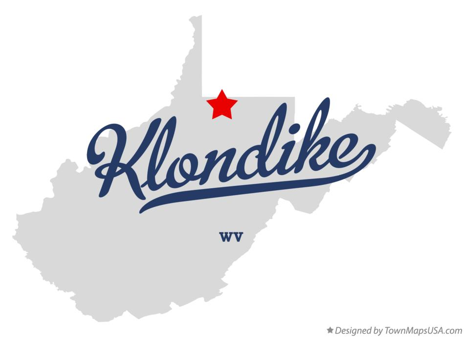 Map of Klondike West Virginia WV