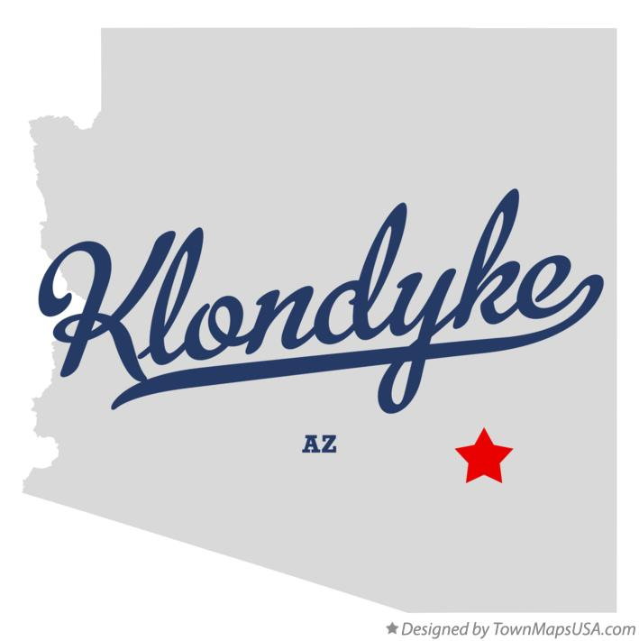 Map of Klondyke Arizona AZ