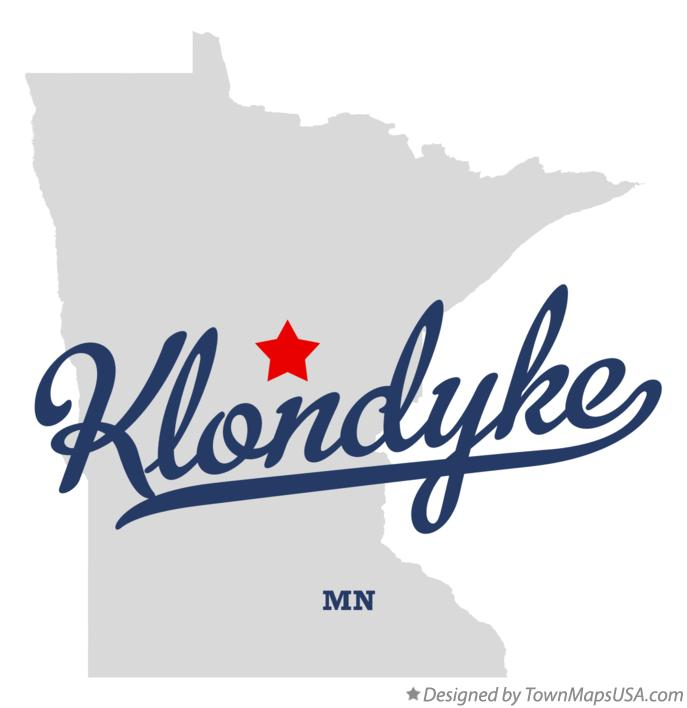 Map of Klondyke Minnesota MN